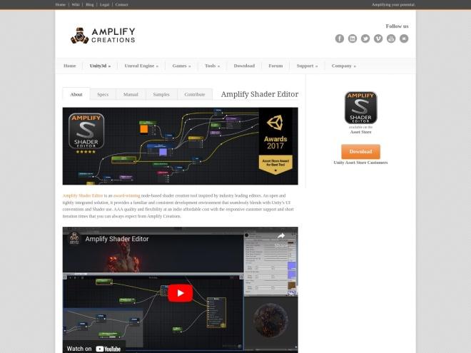 http://amplify.pt/unity/amplify-shader-editor/