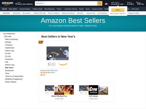 Amazon Best Sellers for 2017!