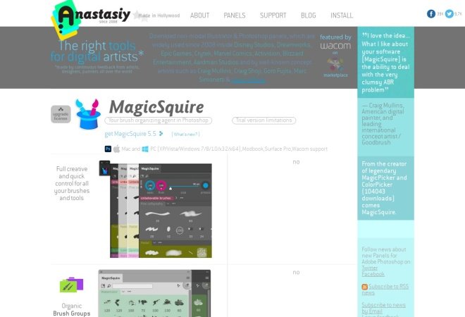 Screenshot of anastasiy.com