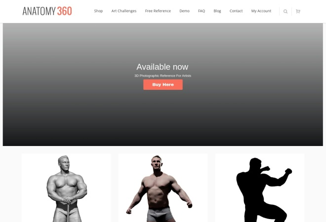 Screenshot of anatomy360.info