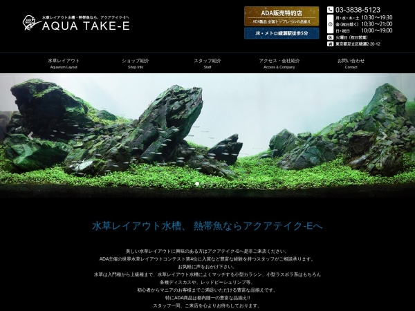 Screenshot of aquatake-e.jp