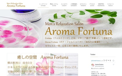 Screenshot of aroma-fortuna.com