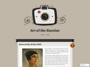 Art of the Russias using the Vintage Camera WordPress Theme