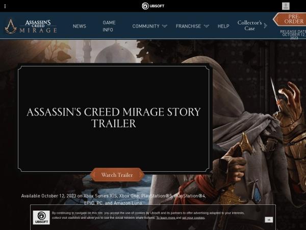 Screenshot of assassinscreed.us.ubi.com