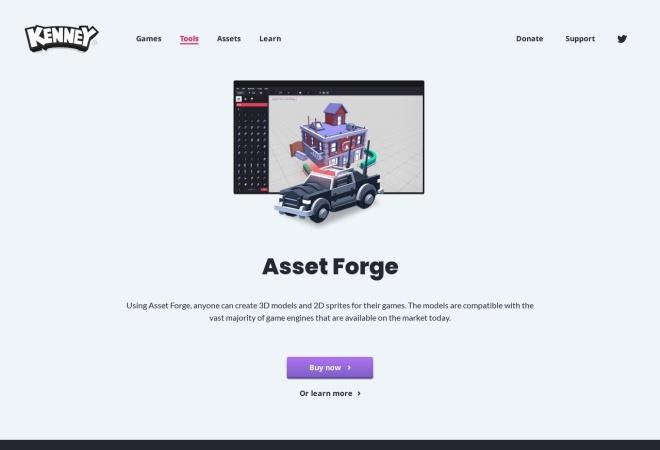 Screenshot of assetforge.io