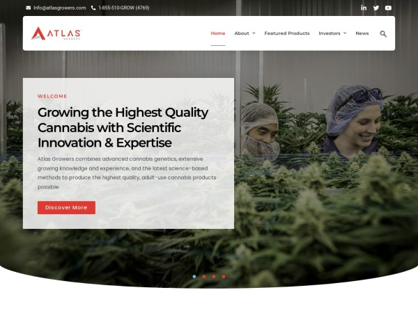 Screenshot of atlasgrowers.com