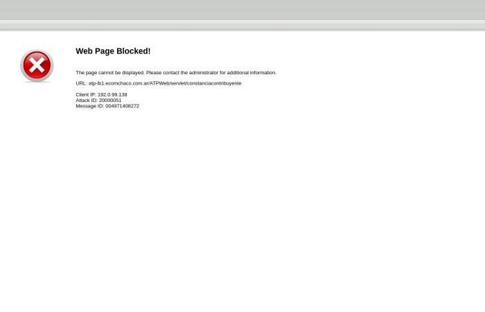 Captura de pantalla de atp-lb1.ecomchaco.com.ar