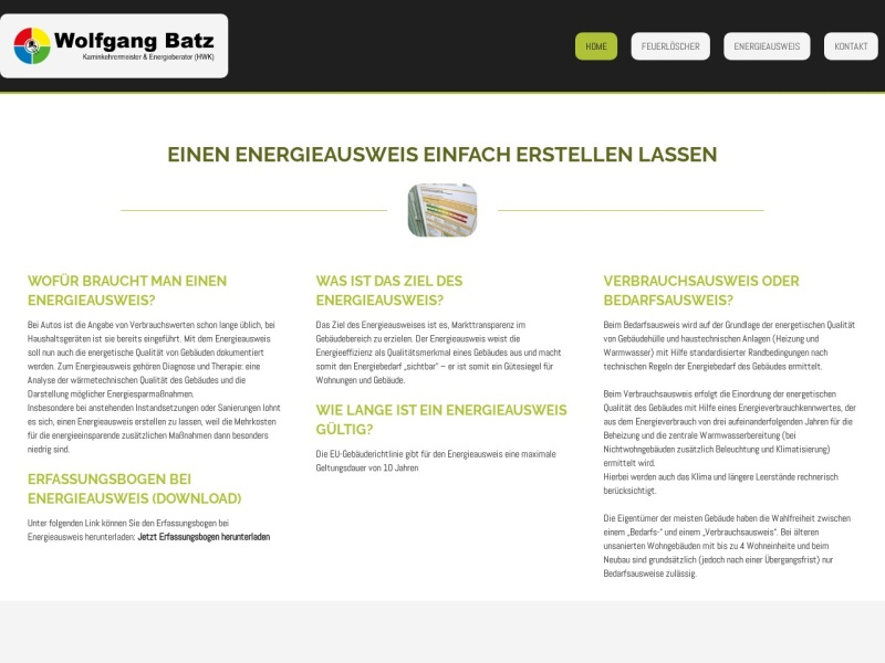 Screenshot of batz-kaminkehrer.de