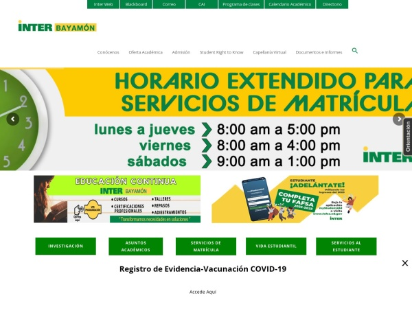 Screenshot of bayamon.inter.edu