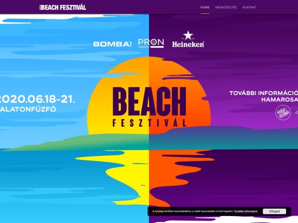 Screenshot of beachfeszt.hu