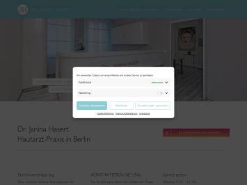 Screenshot of berlin-hautarztpraxis.de