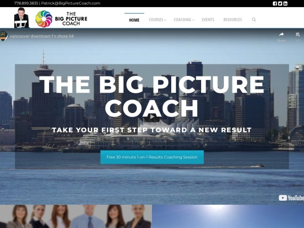 Screenshot of bigpicturecoach.com
