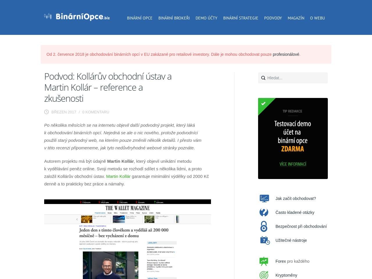 Podvod: Kollárův obchodní ústav a Martin Kollár – reference a zkušenosti (Zdroj: Wordpress.com)