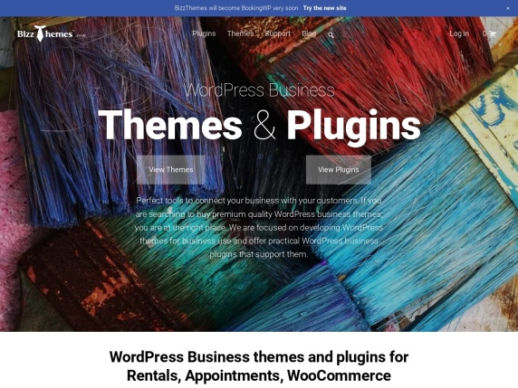 BizzThemes homepage