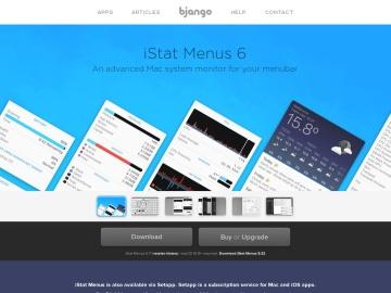 iStat Menus 5のダウンロードページ