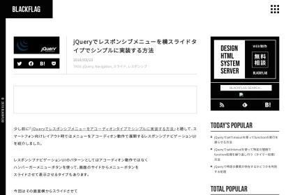 Screenshot of black-flag.net