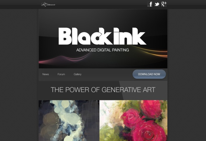 Screenshot of blackink.bleank.com