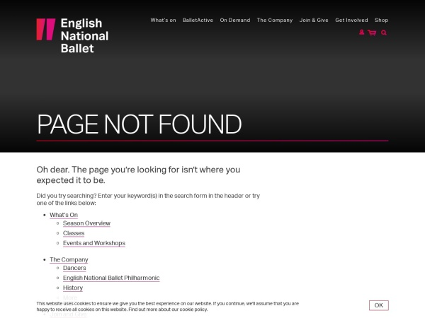 Screenshot of blog.ballet.org.uk