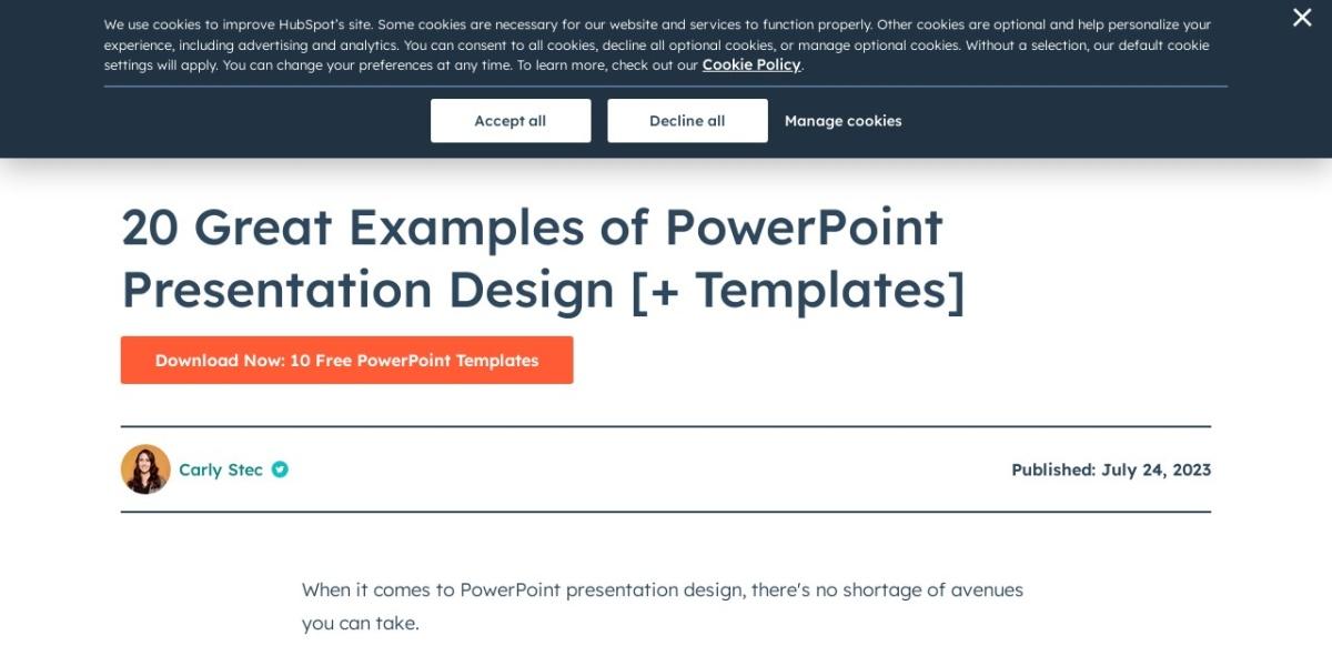 http://blog.hubspot.com/blog/tabid/6307/bid/6012/17-Examples-of-Great-Presentation-Design.aspx#sm.00148k8uh16gmdzntwc11o5ps0614