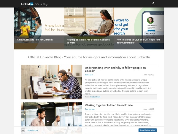 Screenshot of blog.linkedin.com