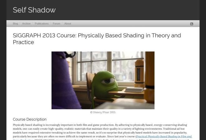 Screenshot of blog.selfshadow.com