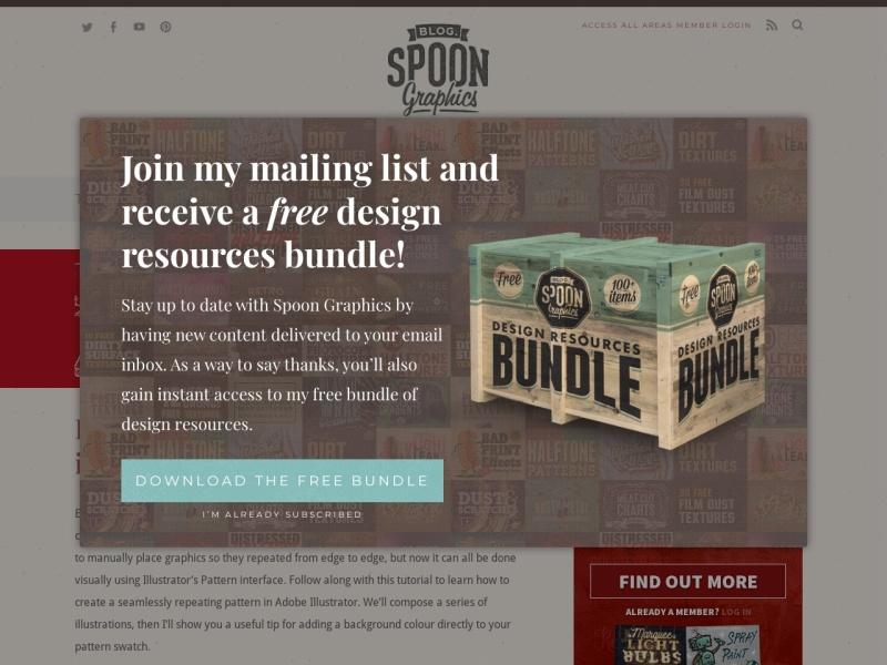 Screenshot of blog.spoongraphics.co.uk