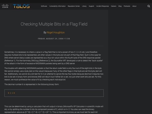 Screenshot of blog.talosintelligence.com