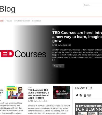 Screenshot of blog.ted.com