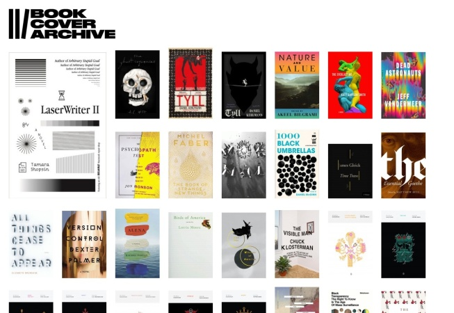 Screenshot of bookcoverarchive.com