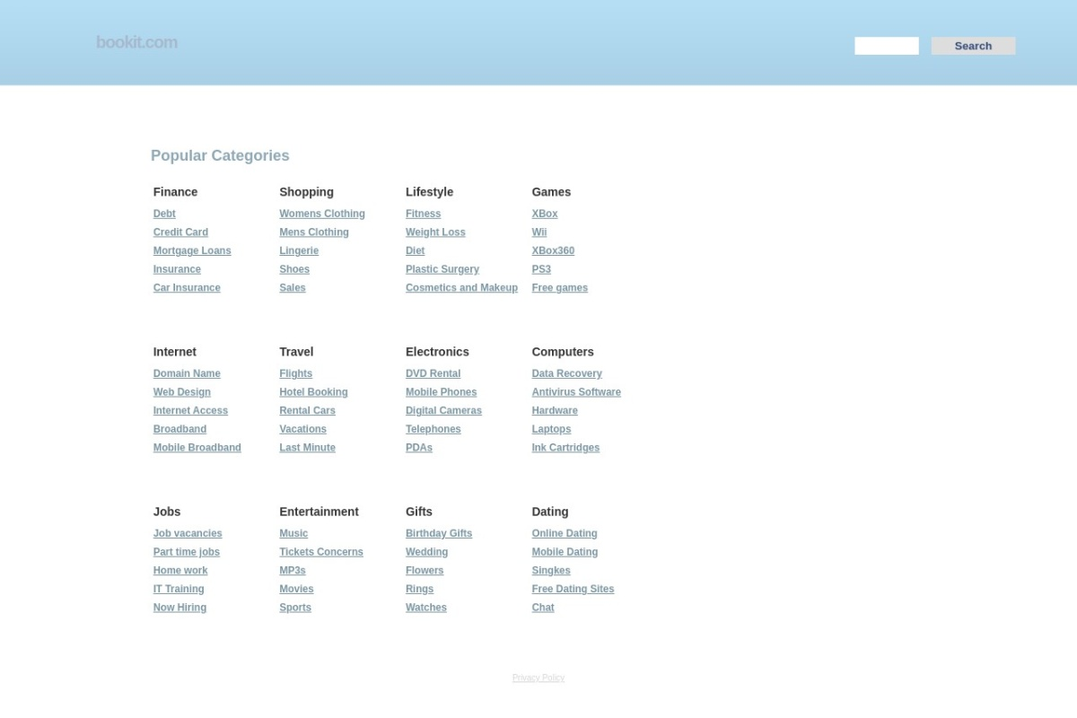 Screenshot of bookit.com