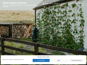 Screenshot of Borders Organic Gardeners website