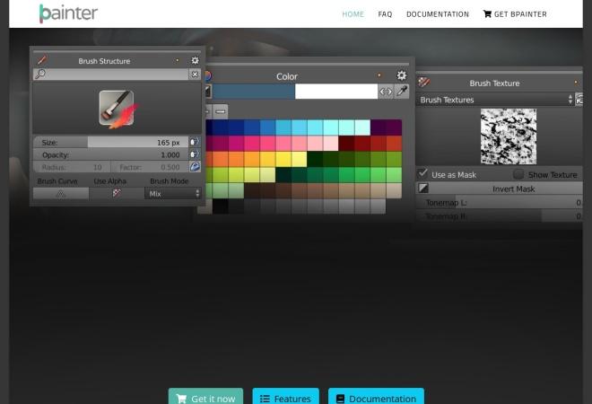 Screenshot of bpainter.artbyndee.de