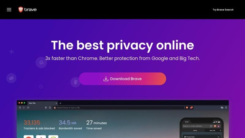 Screenshot of brave.com