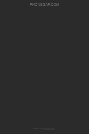 Screenshot of build.phonegap.com