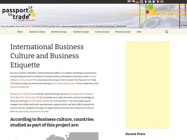 Screenshot of businessculture.org