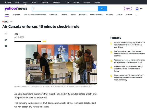 Screenshot of ca.news.yahoo.com