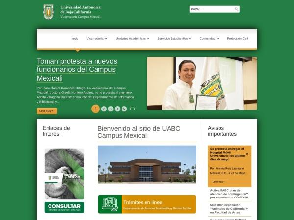 Screenshot of campus.mxl.uabc.mx