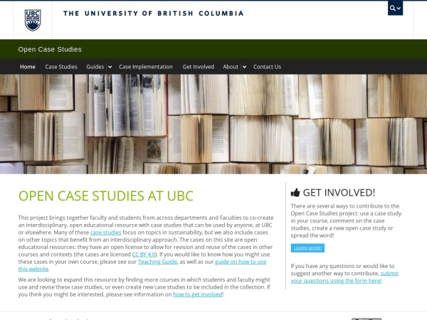 Screenshot of cases.open.ubc.ca