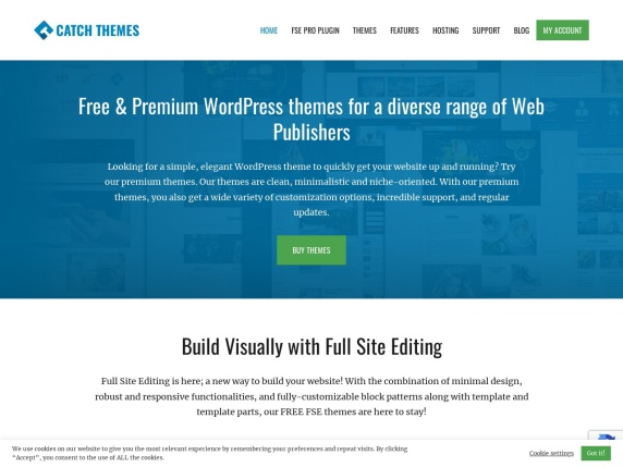 Catch Themes homepage