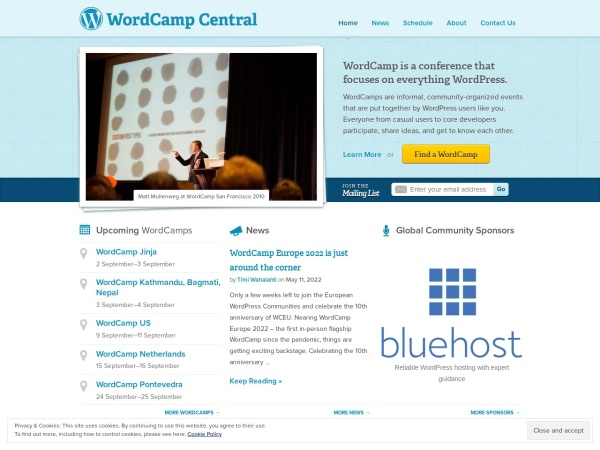 http://central.wordcamp.org/
