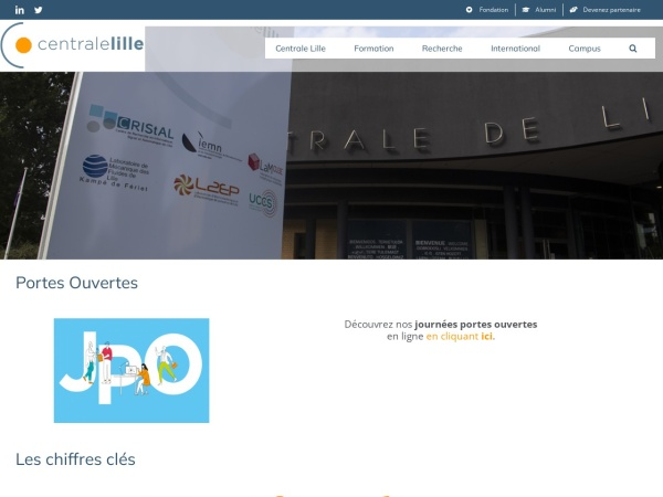 Screenshot of centralelille.fr