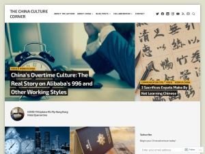 The China Culture Corner using the Opti WordPress Theme