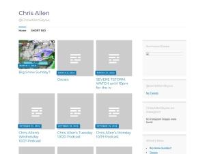 Chris Allen using the Baskerville WordPress Theme