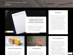 CHRISTIAAN JANSSEN / passion for paper using the Vision WordPress Theme