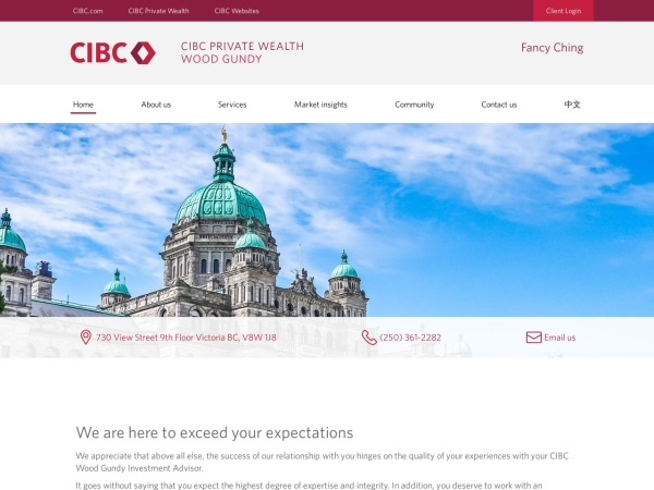 Screenshot of cibcwg.com