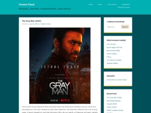 Cinema Chaat using the Superhero WordPress Theme