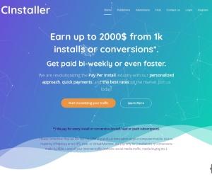 Screenshot of cinstaller.com