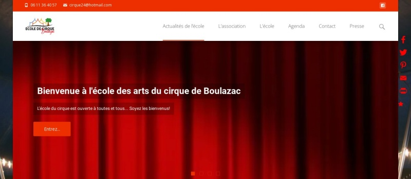 Screenshot of cirque24.fr