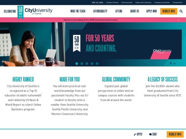 Screenshot of cityu.edu