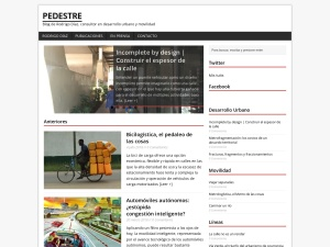 pedestre using the MH Magazine WordPress Theme